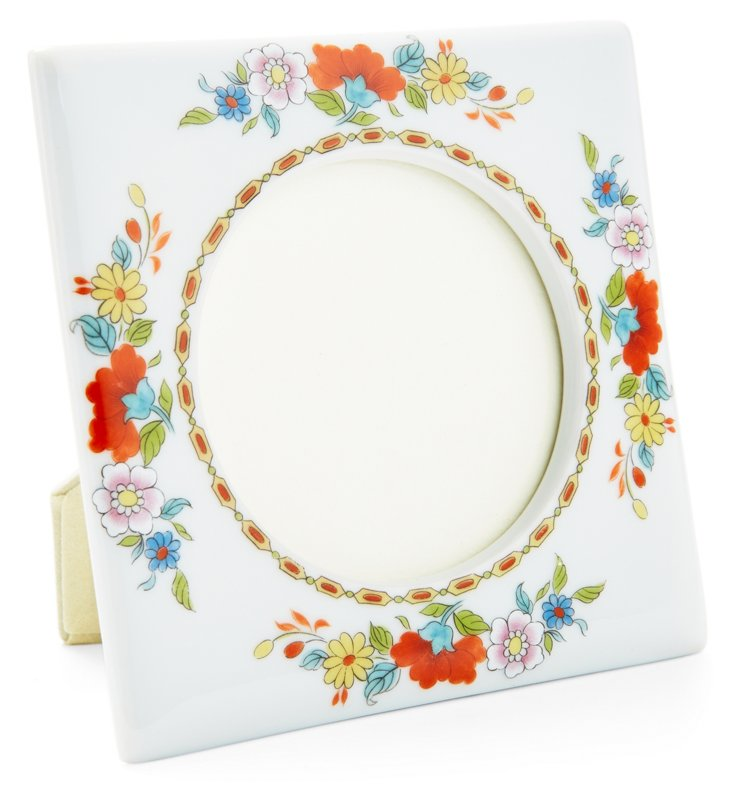 Small Square Lotus Frame, Red