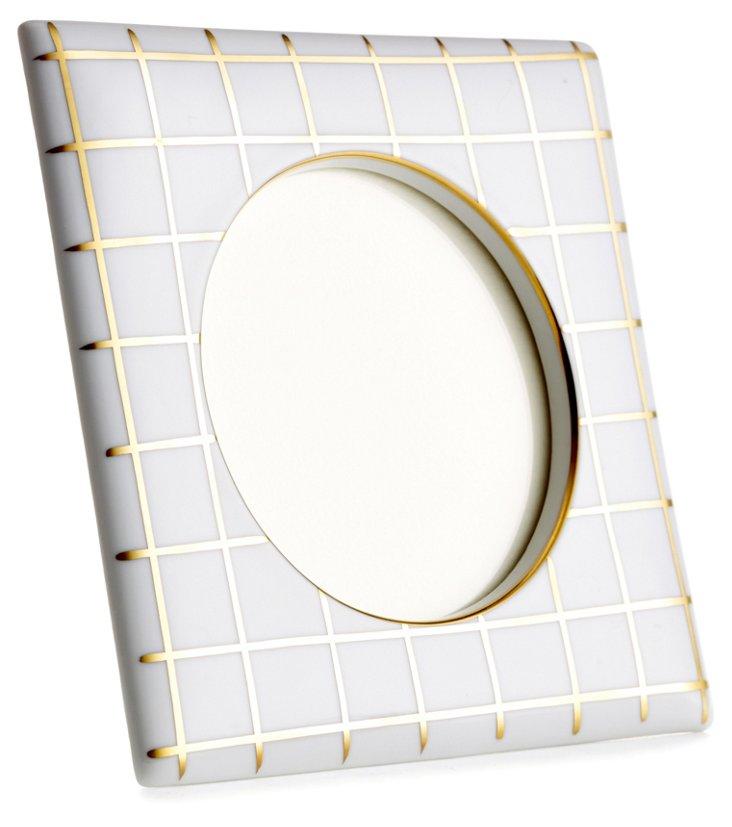 Small Square Quadrille Frame, Gold