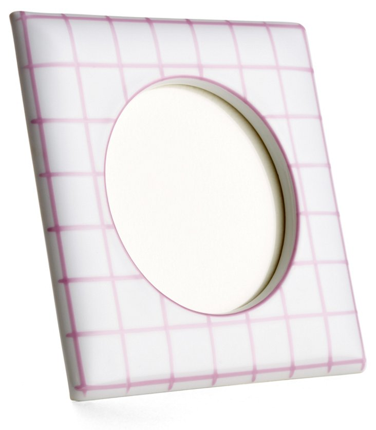 Small Square Frame Quadrille, Pink