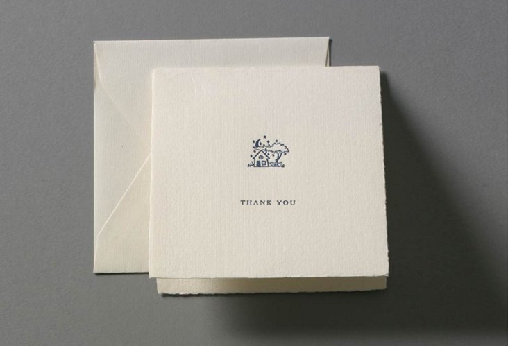 S/8 Star Lit Cabin Thank You Cards