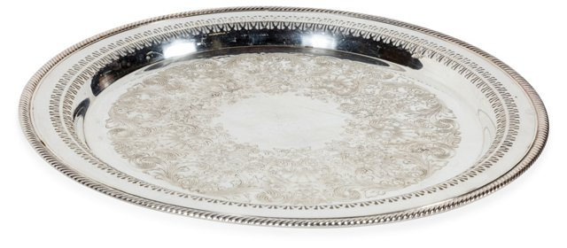 Vintage Silverplate Serving Tray