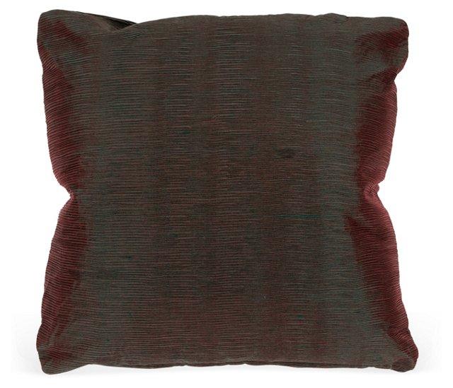 Elegant Mini-Pleated Silk Pillow