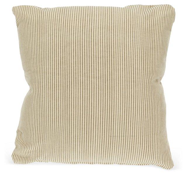 Classic Mini-Stripe Linen Pillow