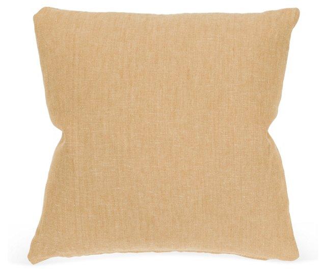 Handsome Tan Linen Pillow