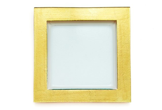 """Textured Gold Leaf Serving Tray, 14"""""""