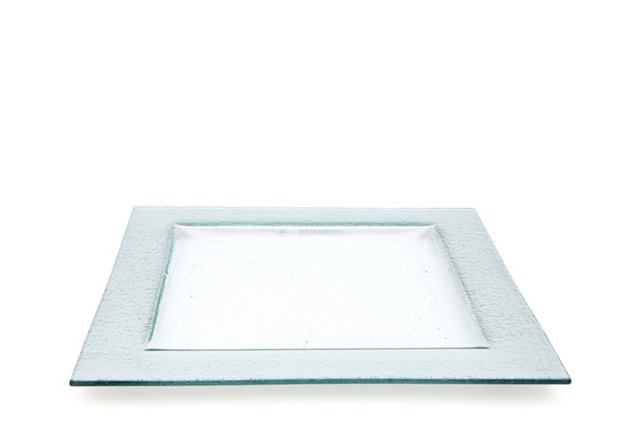 "Solid Square Tray, 12"" Silver"
