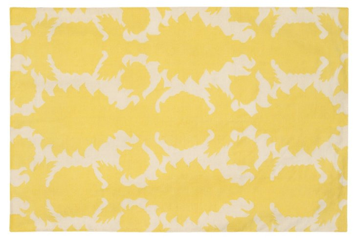 Flock Rug, Corn/Cream