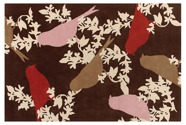 Goldfinch Rug, Chocolate/Taupe