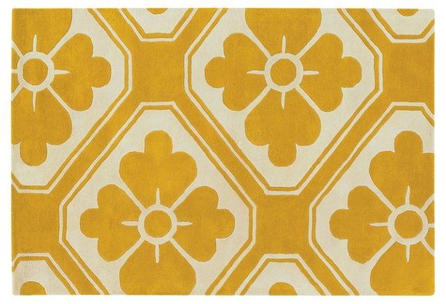 Obi Rug, Maize/Cream