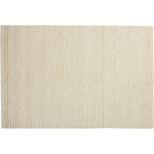 Cali New Zealand Wool Rug, Ivory