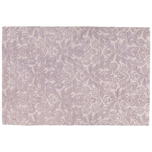 Mira Rug, Purple/White