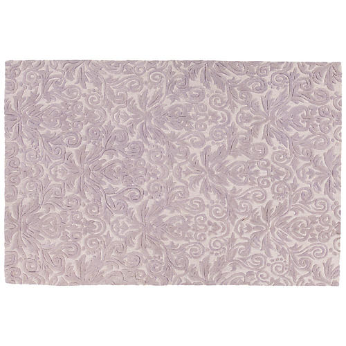 Mira Rug, Purple/White