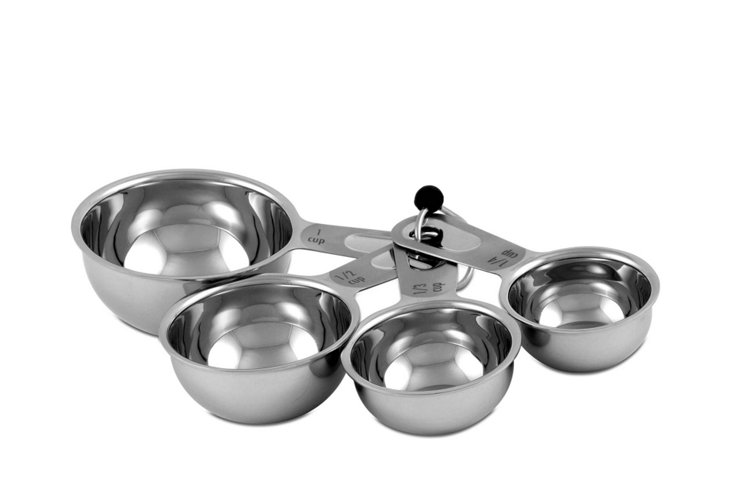 4-Pc Stainless Steel Measuring Cup Set