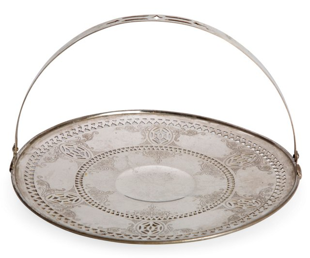Silverplate Tray w/Handle
