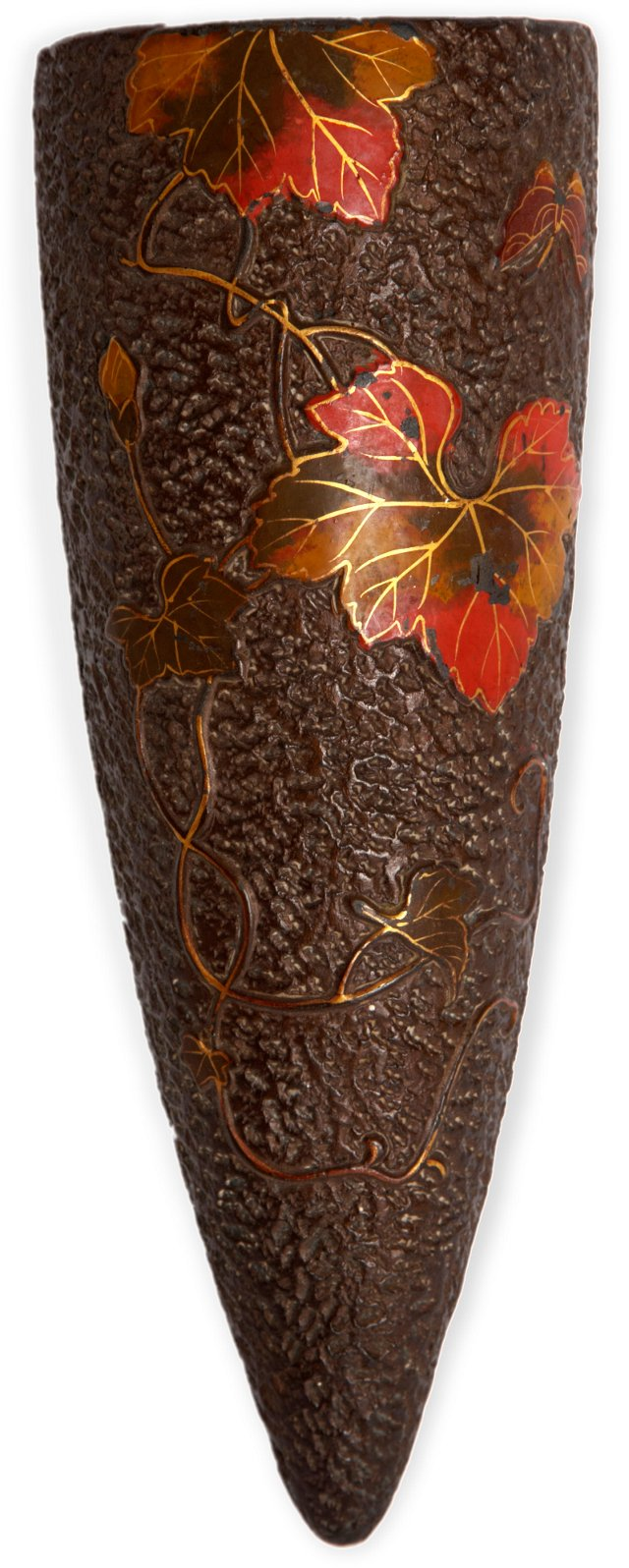 Wall Vase w/Autumn Leaves