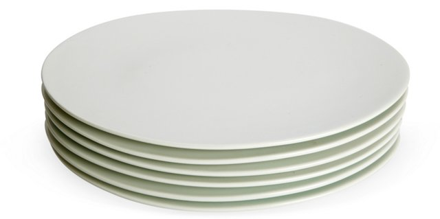 Medium Oval Lunch Plates, Set of 6