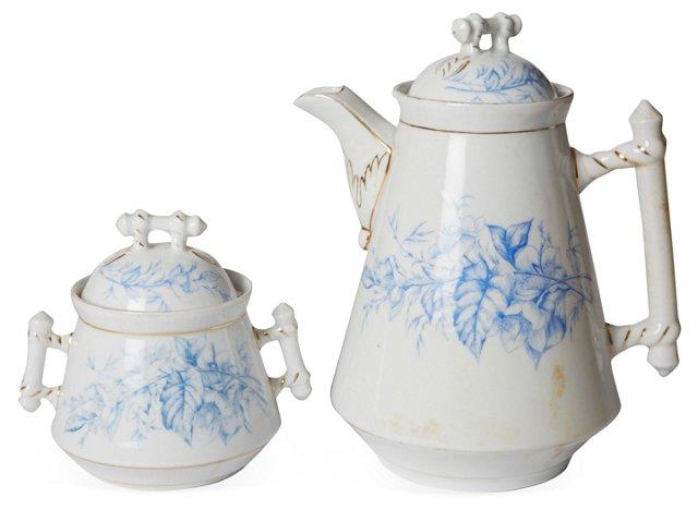 Porcelain Teapot & Sugar