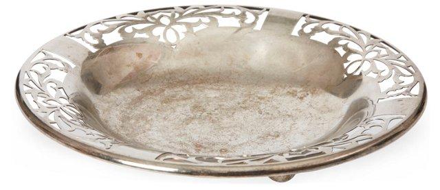 Pierced Silverplate Serving Bowl
