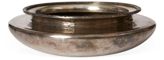 Shallow Silver Serving Bowl