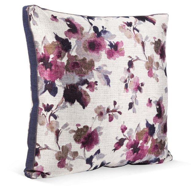 Floral Jacquard Box Pillow