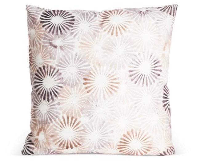 Outdoor Starburst Pillow, Neutral