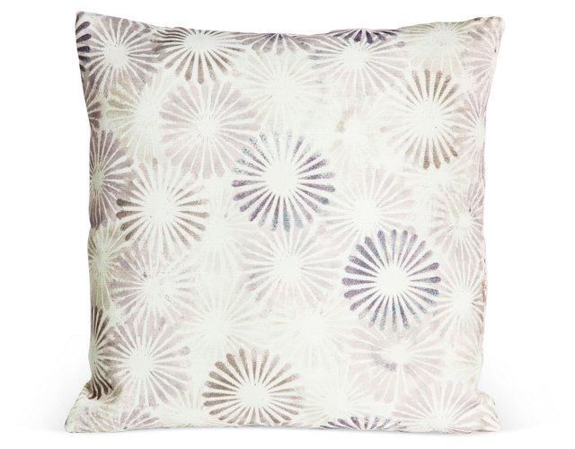 Outdoor Starburst Pillow, Lavender
