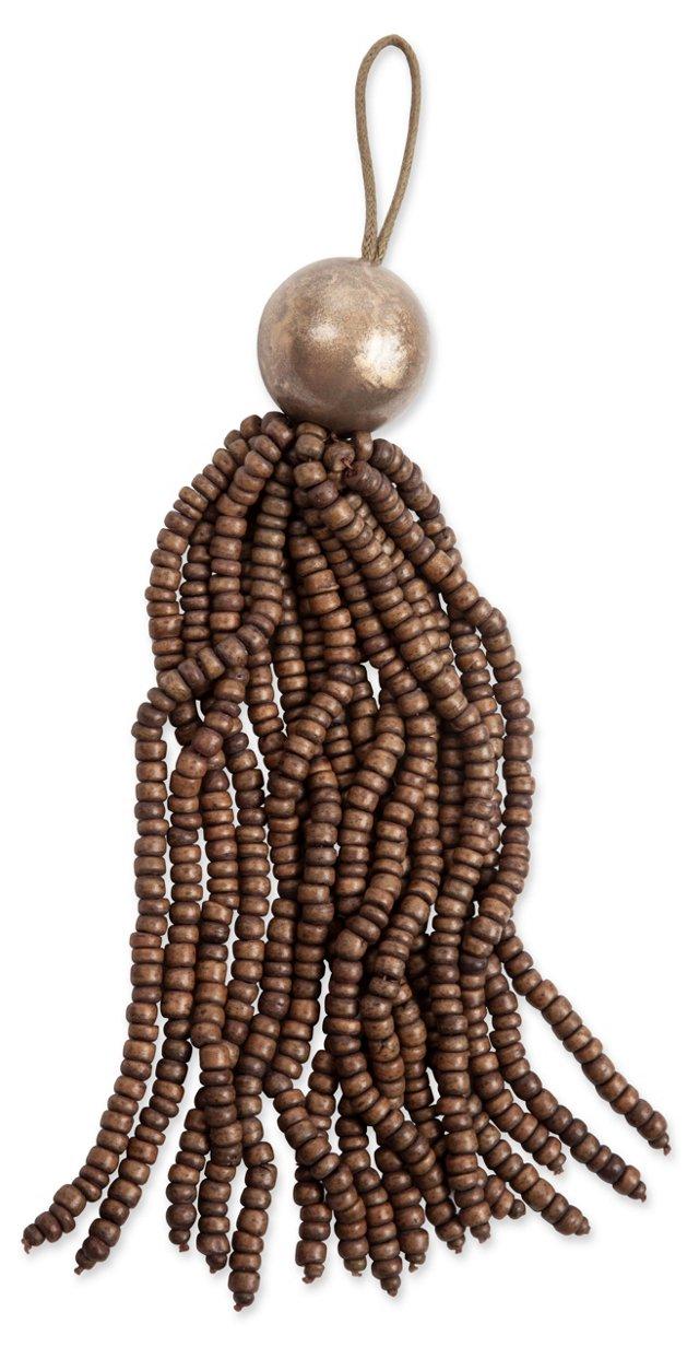 Beaded Key Tassel, Mocha