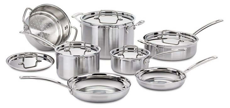 12-Pc Cookware Set, Silver