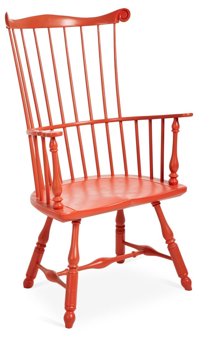 Benefit High-Back Armchair, Persimmon