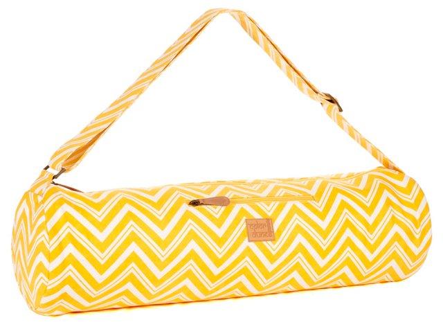 Chevron Yoga Bag, Lemon