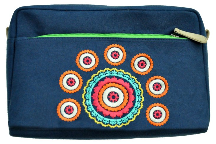 Two-Pocket Cosmetic Pouch, Navy