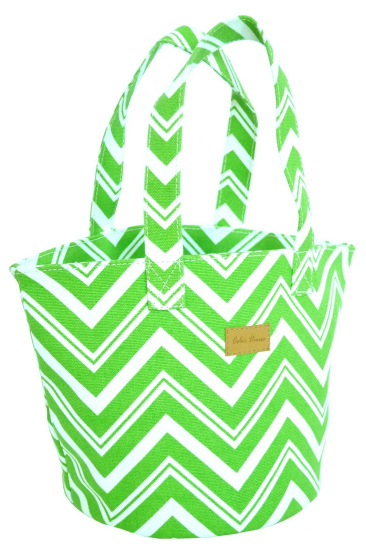 Chevron Lunch Tote, Lime