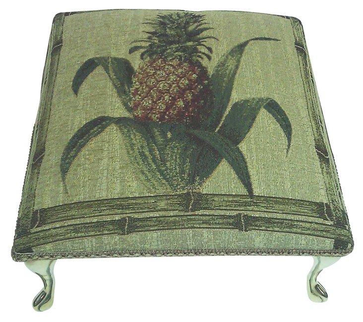 Pineapple Footstool, Green