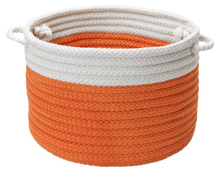 Orange Color-Block Basket, Asstd Sizes
