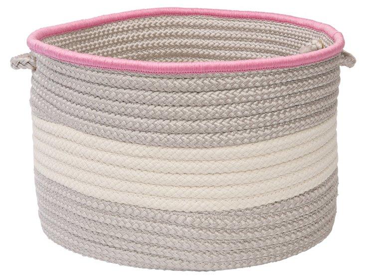 Color-Block Basket, Shadow/Pink