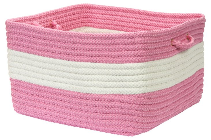 Rope Walk Basket, Pink