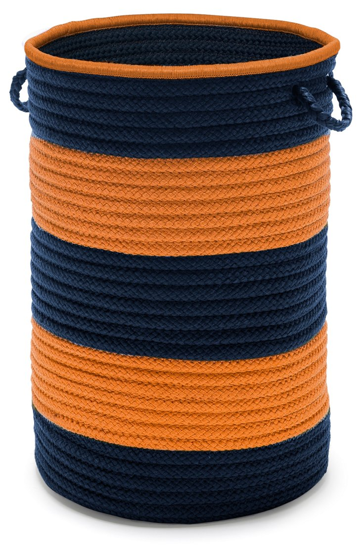 Color Block Hamper, Orange/Blue