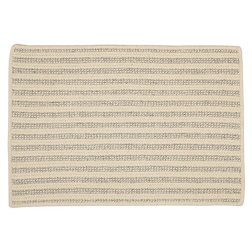 Abilene Braided Rug, Light Gray