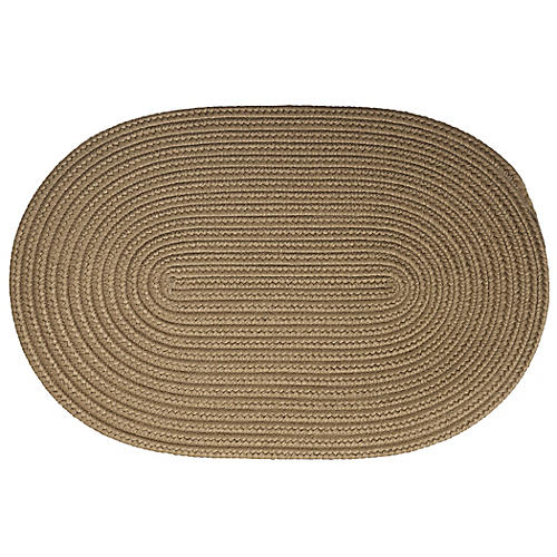 Reversible Solid Doormat, Tan