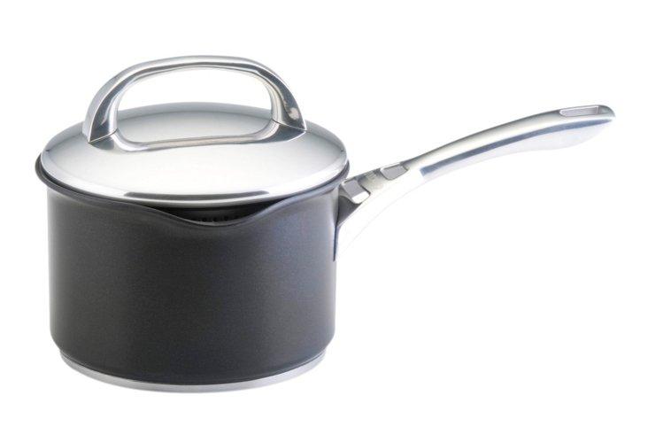 2 Qt Covered Straining Saucepan