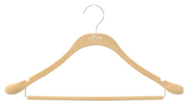 S/20 Slim Suit Hangers, Nude/Chrome
