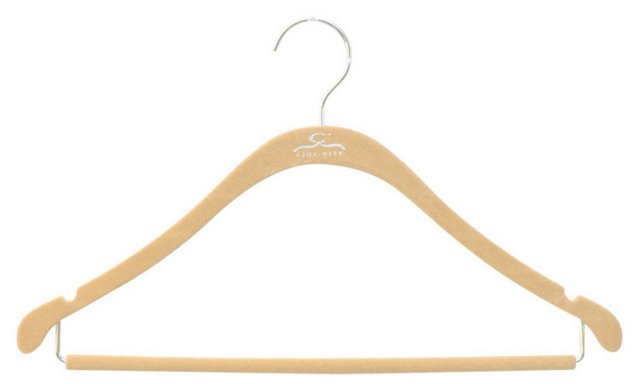 S/20 Slim Shirt Hangers, Nude/Chrome