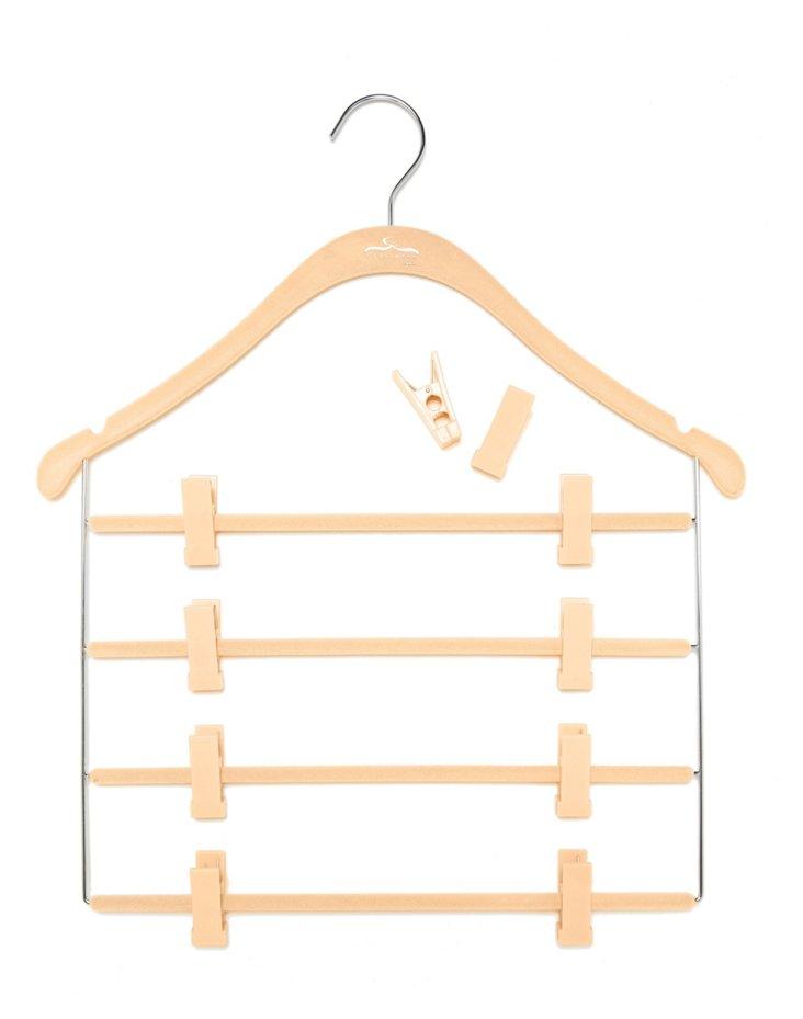 S/10 Pant/Skirt Hangers, Nude/Chrome