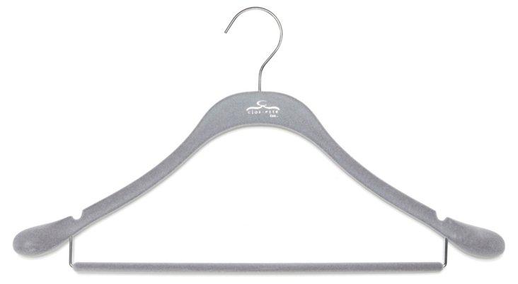 S/20 Slim Suit Hangers, Gray/Chrome