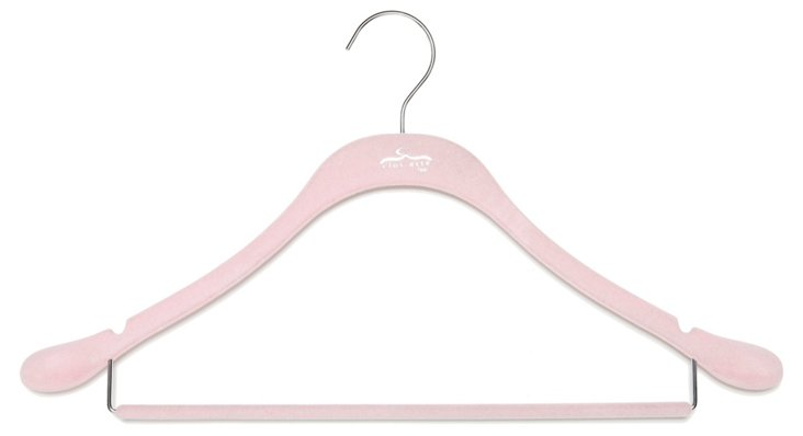 S/20 Coat Hangers w/ Bar, Pink/Chrome