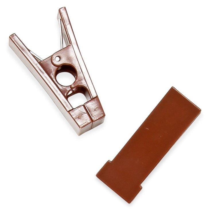 S/40 Hanger Bar Clips, Brown