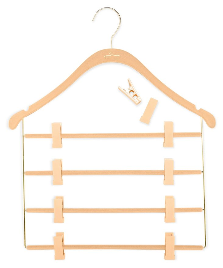 S/10 Pant/Skirt Hangers, Nude/Brass