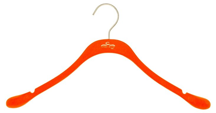 S/20 Slim Coat Hangers, Orange/Brass