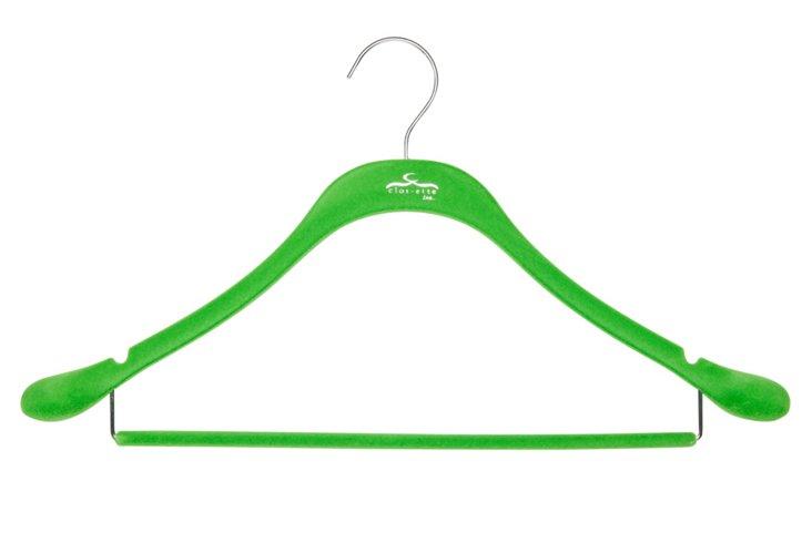 S/20 Slim Suit Hangers, Green/Chrome