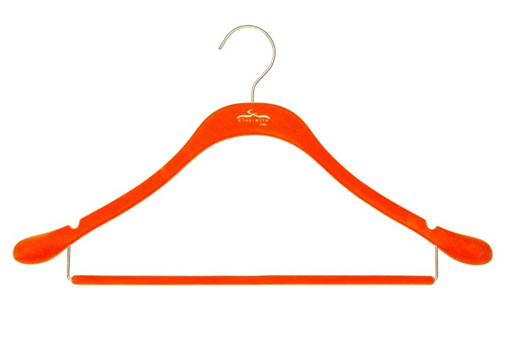 S/20 Slim Suit Hangers, Orange/Brass